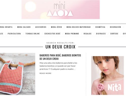 Nouvel article de mes créations sur un blog espagnol minimoda.es :)