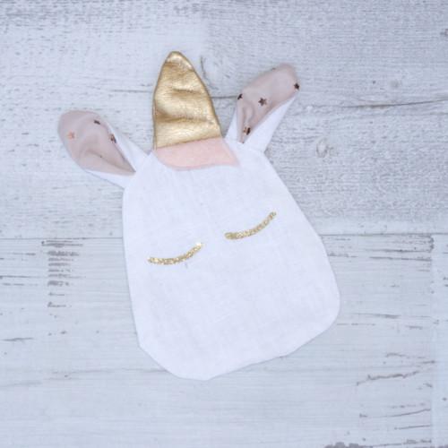 Bouillotte seche - LAPIN ROSE - UNDEUXCROIX - creation bebe originale