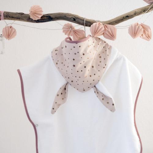 poncho de bain bebe - CONSTELLATION - étoiles rose cuivrées