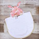 poncho de bain bebe - UNICORN - rose et doré