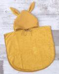 PONCHO DE BAIN - GAZE DE COTON moutarde