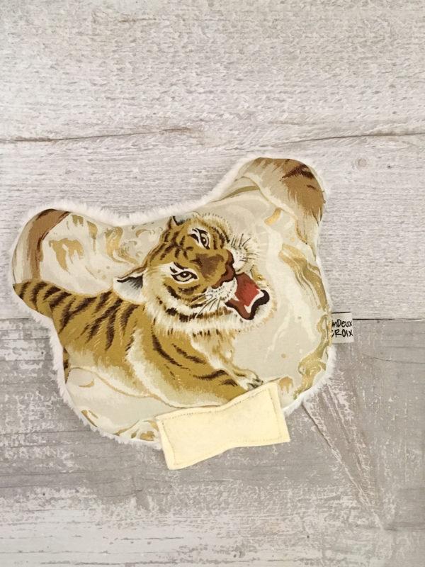 BOUILLOTTE SECHE - OURS tigre ivoire et or
