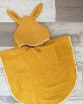 Poncho de bain - UnDeuxCroix - gaze de coton Curry et pois or