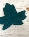 HOCHET - FEUILLE - bleu paon
